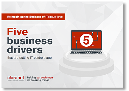 eBook Five business drivers that are putting IT centre stage